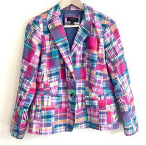 Pink/multi-color pastel plaid print - Long sleeve